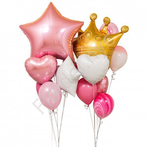 Set of balloons for a girl