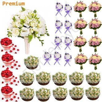 Premium package - Freesia and roses
