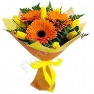 Bouquet with gerberas and tulips