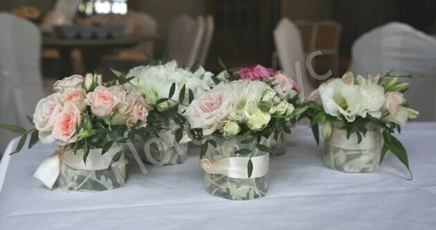 Set of 5 centerpieces