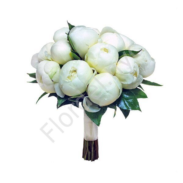 Premium package - White peony wedding bouquet