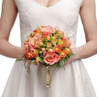 Bridal bouquet with shrub roses