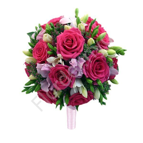 Medium package - Fuchsia bridal bouquet