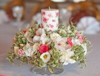 Centerpiece with candel