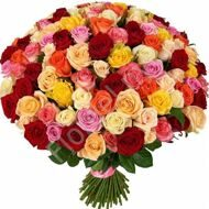 Bouquet of roses of different color