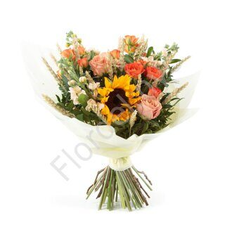 Country bouquet with stock