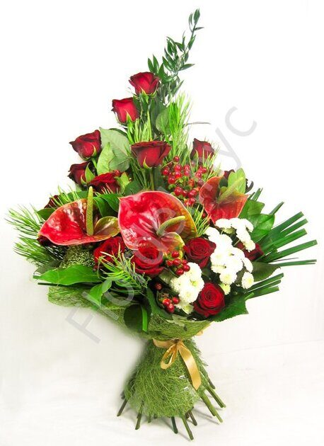 Exotic bouquet with anthuriums