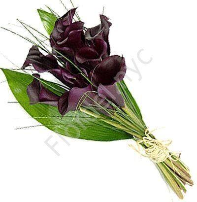 Black callas bouquet