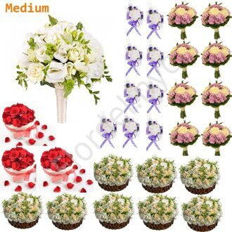 Medium package - Bright orchid bouquet