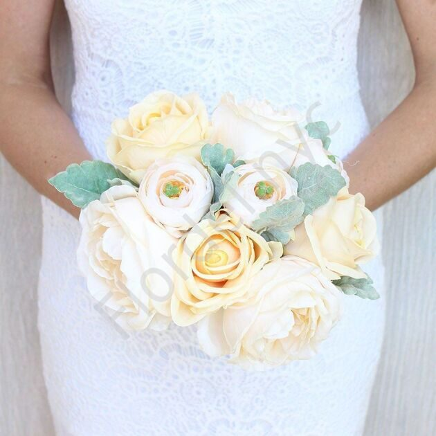 Premium package - Peach bridal bouquet