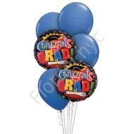 Graduation balloons set