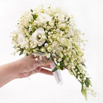 Lily of valley cascade bouquet