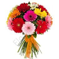 Bright gerberas in a bouquet