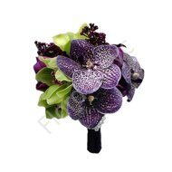 Bridal bouquet with vanda orchid