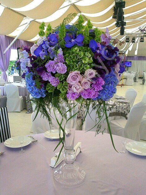 Centerpiece with vanda orchid