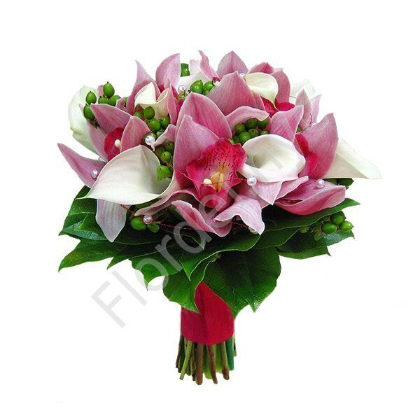Medium package - Orchid wedding bouquet