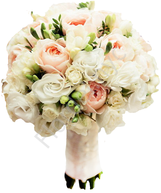 Bridesmaid bouquet with freesia
