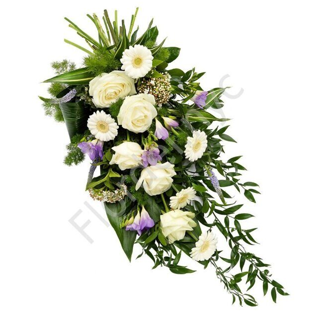 Sympathy bouquet with freesia