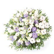 Large bouquet with blue hyacinths
