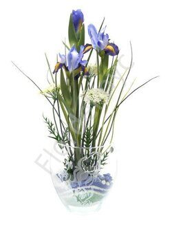 Irises centerpiece