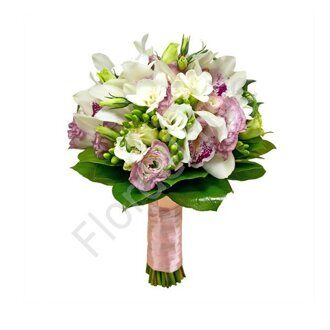 Tender orchid bridal bouquet