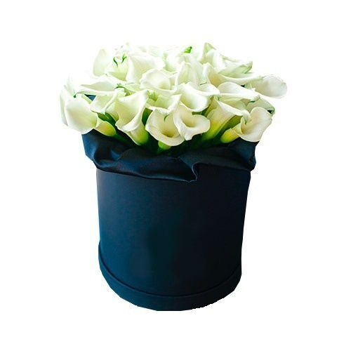 Hat box with callas