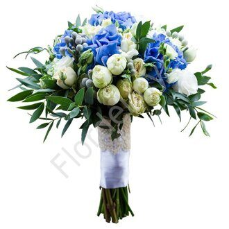 Bridal bouquet with hydrangea