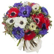 Assorted anemones bouquet