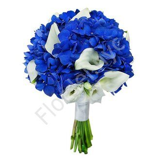 Royal blue bouquet