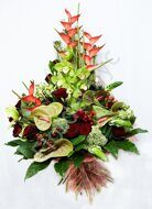 Large tropical bouquet with anthurium