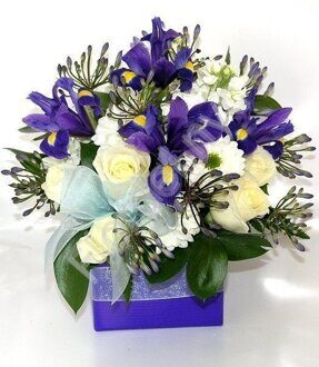 Royal blue centerpiece