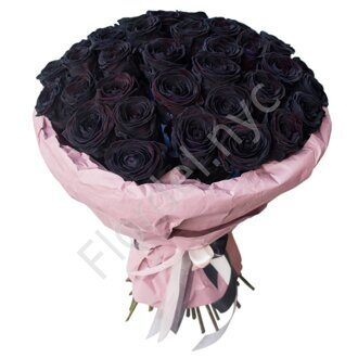 Large bouquet of black roses