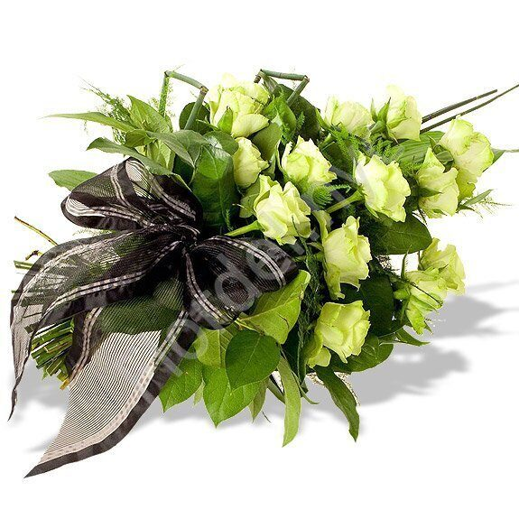 Green rose sympathy bouquet