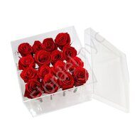 Preserved rose's glass box