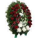 Red-white standing wreath + standing