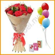 12 roses + gifts