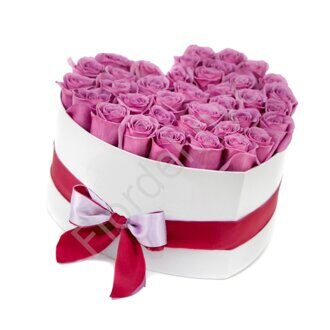 Purple preserved roses box