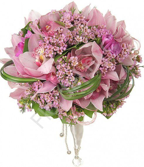 Large package - Pink orchid bouquet