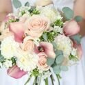 Premium package - Bridal bouquet with roses and callas