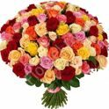 Bouquet of 100 roses of different color