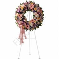 Large pastel funeral wreath
