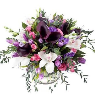Bouquet with black callas
