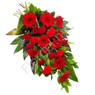 Sympathy bouquet with gerberas