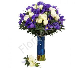 Spray roses and irises