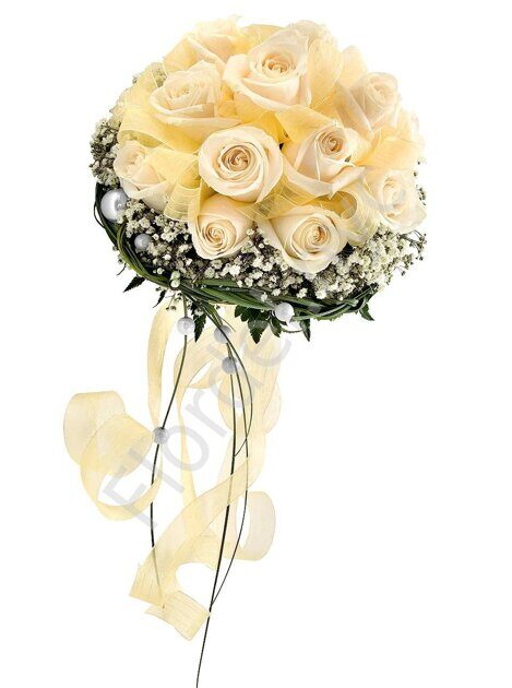 Large package - Champagne bridal bouquet