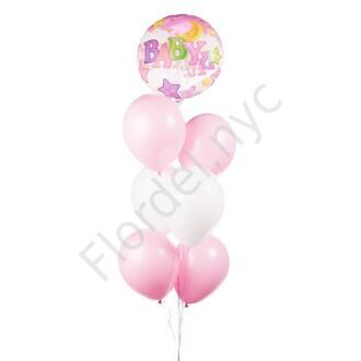 Set of balloons for a baby girl