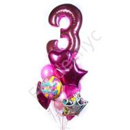 Balloon set with a number for B-Day