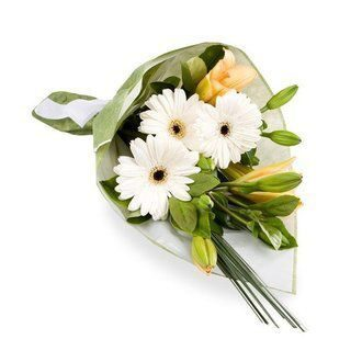Lilies and white gerberas