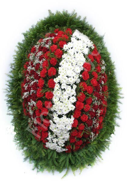 Large red-white wreath