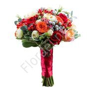 Red roses bridesmaid bouquet